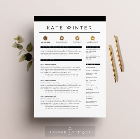 || PROMO CODE: 2 resumes for 25$ USD, use code THERXB ||  Welcome to the Resume Boutique! We create templates that help you make a lasting