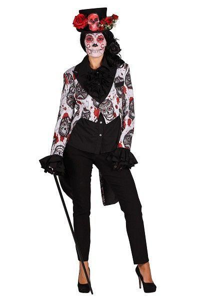 Slipjas dames Mexican Skull Black in gevoerde kwaliteit met