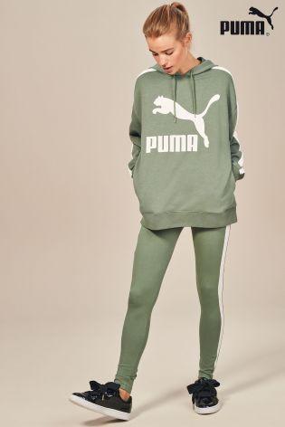 06f2ab88b5 Green Puma® Classic Logo T7 Hoody   Wishlist ♥   Puma classic ...