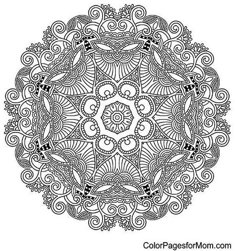 Free Printable Mandala Coloring Pages For Adults Adult Coloring