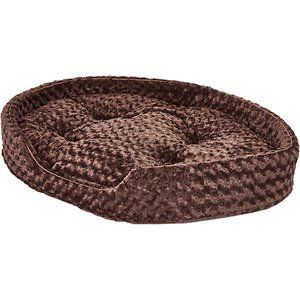 Furhaven Ultra Plush Oval Dog Cat Bed Chocolate Jumbo Dog Bed Puppy Beds Dog Varieties