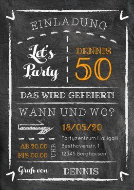 Chalk Party 50 Mit Bildern Einladung Geburtstag Einladung