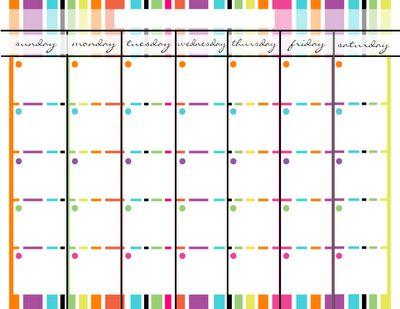 fill in calendar