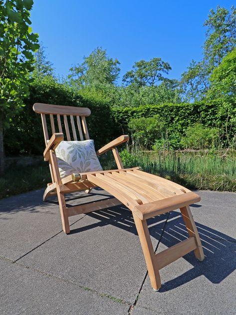 Klassischer Sunyard Country Deckchair Aus Teakholz Gartenmobel