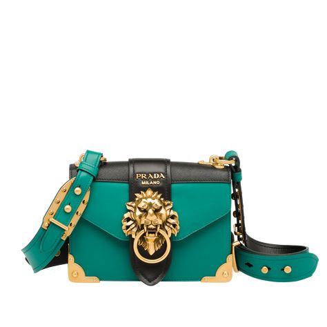 889997b0aa5b Replica Prada Lion Head Shoulder bag 1BA151 Black | Purse in 2019 | Bags,  Prada, Luxury bags