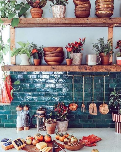 03 Plants in the bohemian kitchen 01