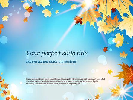 Beautiful Sunny Autumn Powerpoint Template Powerpoint Powerpoint Templates Templates