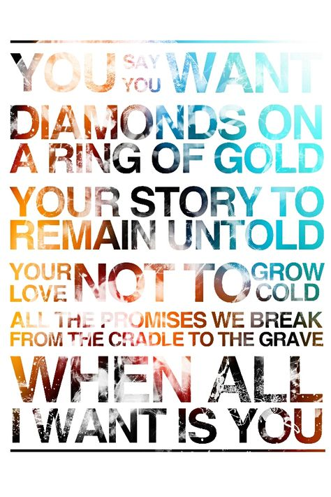 Taken From U2 Song All I Want Is You D Inspirational Songs