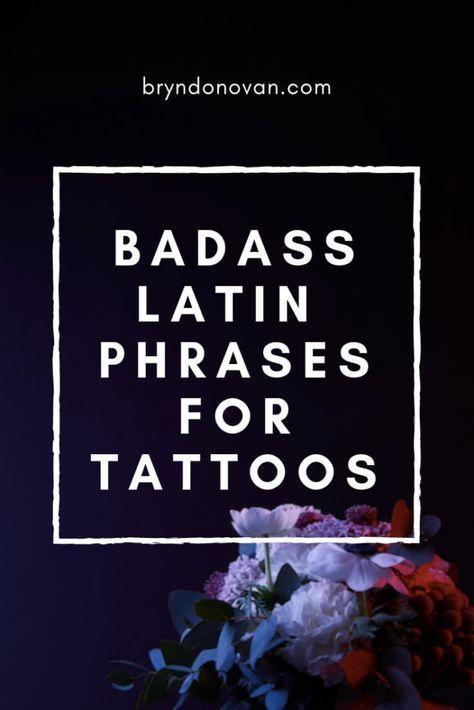 Badass Latin Phrases For Tattoos #inspirational quotes #life mottos