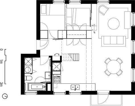 plan klein appartement