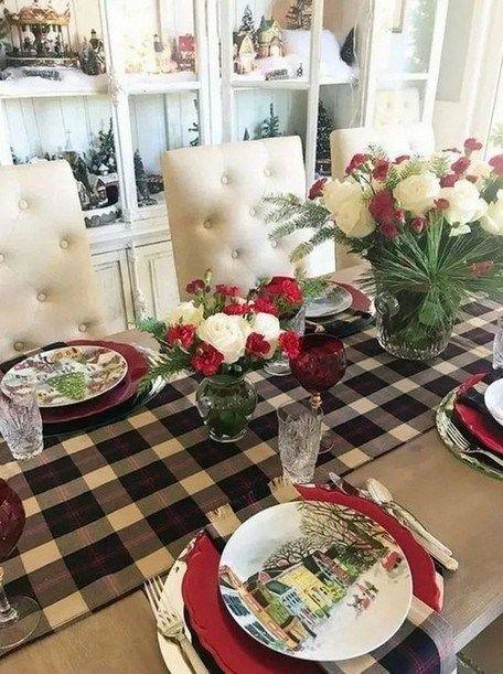 Simple Beautiful Christmas Table Decoration Ideas 00 00021 Diy Christmas Table Christmas Table Decorations Diy Christmas Table Settings
