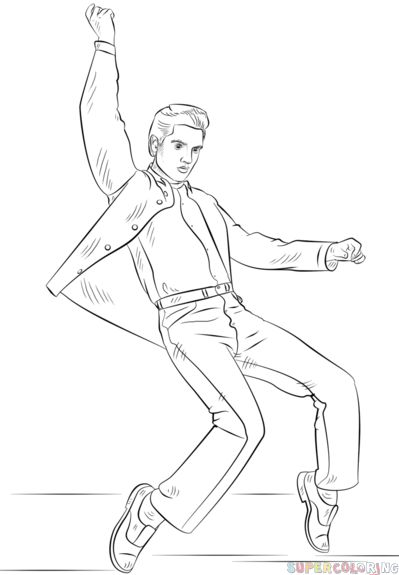 how to draw elvis presley step by step drawing tutorials for kids and beginners spencer pinterest elvis presley tutorials and drawings
