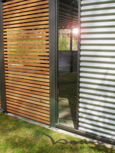 Wellblech, Holz, Stahl Garten Pinterest Wellblech, Holz - trennwand garten holz