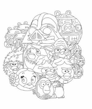 Lots Of Coloring Pages Angry Birds Star Wars Bird Coloring Pages Angry Birds