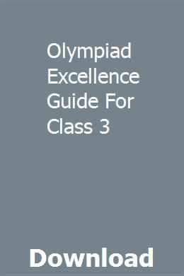 Olympiad Excellence Guide For Class 3 With Images Teacher
