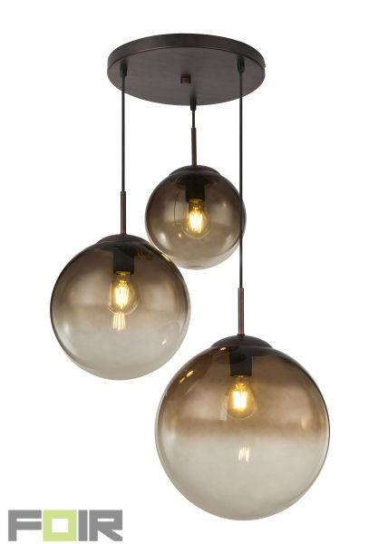 Hanglamp 3 Bollen Varus Amberkleurige Glas Google Search Hanglamp Glas Fitting