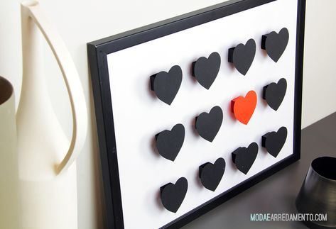 San Valentino tutorial: come fare quadri con cuori in 3D ...