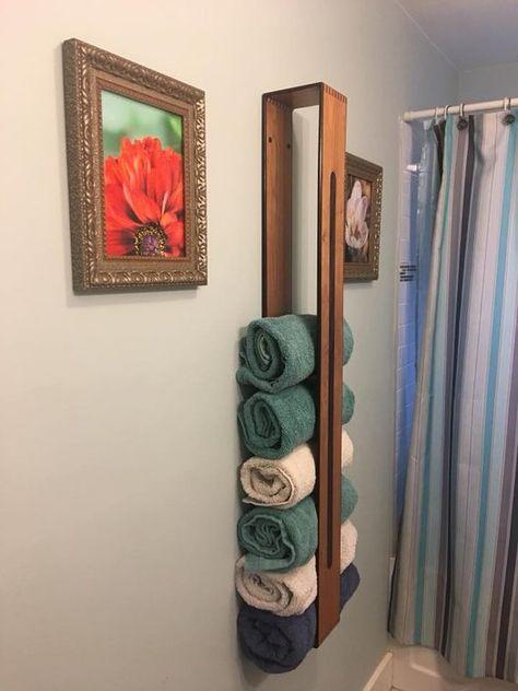 Towel rack - custom towel rack by Pabs @ LumberJocks com ~ woodworking community Diy Furniture, Woodworking, Towel, Custom Towel, Wood Diy, Towel Rack, Diy Towels, Home Diy, Diy Towel Rack