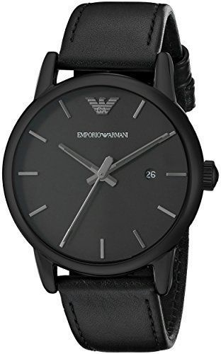 f1a67edb0 Just arrived Emporio Armani Men's AR1732 Dress Black Leather Watch |  watches | Pánské hodinky, Pánská móda, Moda