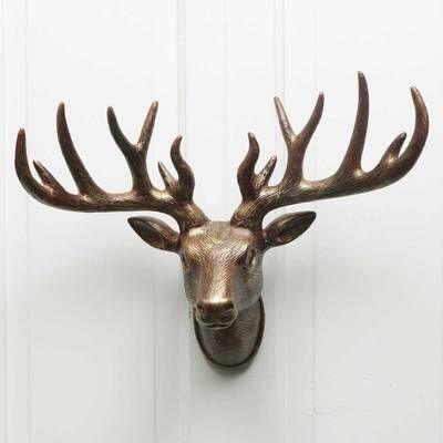 Large Cast Iron Deer Head Wall Decor In 2020 Deer Head Decor Deer Head Wall Decor Deer Heads Wall