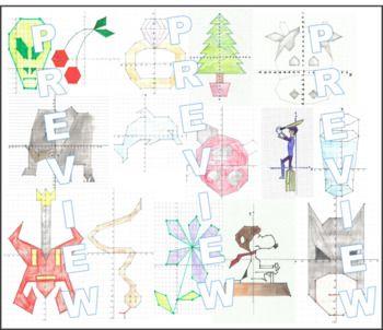 Coordinate Pictures Coordinates Fun X 23 Four Quadrant Worksheets Coordinate Graphing Fun Math Fun Coordinates