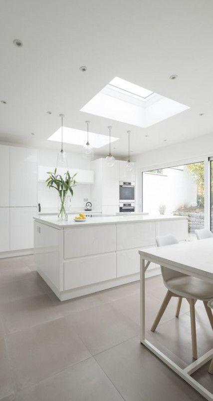 47 Ideas Kitchen White Gloss Design In 2020 White Contemporary