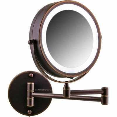 Ovente Modern Contemporary Lighted Magnifying Vanity Mirror Wayfair In 2020 Wall Mounted Makeup Mirror Makeup Mirror With Lights Lighted Magnifying Makeup Mirror