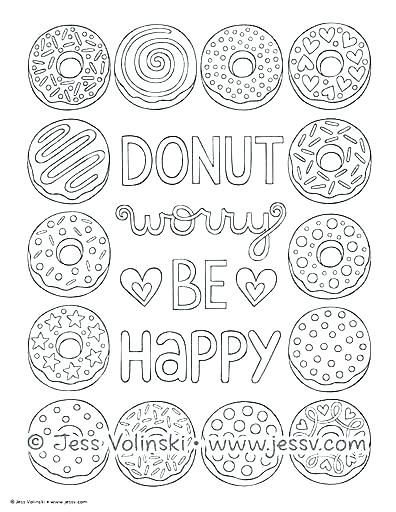 Doughnut Coloring Page Coloring Pages Donuts Doughnut Coloring