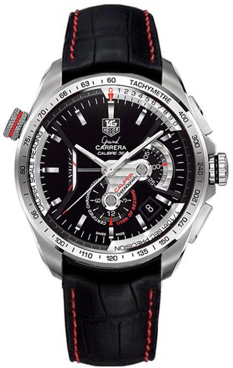 Original TAG Heuer Grand Carrera Calibre 36 RS Mens Auto Chronograph Watch - CAV5115.FC6237