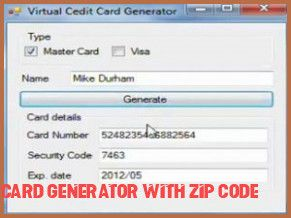 7 Things You Didnt Know About Credit Card Generator With Zip Code