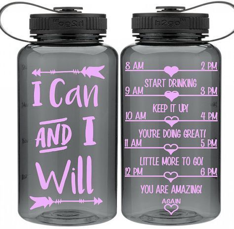 One Of A Kind Water Intake Bottle I Can And I Will Arrow Encouraging Water Bottle Motivationb Water Bottle Decal Water Intake Bottle Motivational Water Bottle