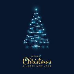 Christmas Card With Tree Made From Lights Chains Sponsored Card Christmas Tree Chains Lights Ad In 2020 Christmas Cards Light Chain Tree