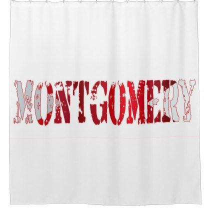 Alabama Sate Flag Montgomery Text Shower Curtain Accessories