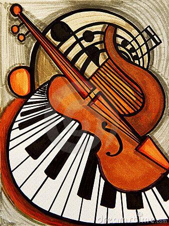 Resultado de imagen para violin abstract art