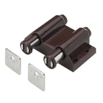 Double Magnetic Touch Latch In Brown 1 Pack Latches Cabinet Latch Magnetic Latch