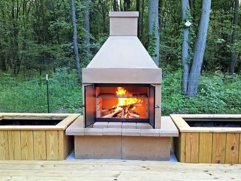 Perfect Outdoor Fireplace Bbq Edition Outdoor Fire Outdoor