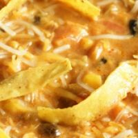 I love Chili's creamy enchilada soup ~I'm sure this recipe would be great made with my homemade enchilada sauce!