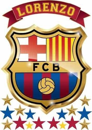 Vinilo Escudo Barcelona Con Tu Nombre Personalizado Escudo Del Barcelona Escudo Escudo Barca