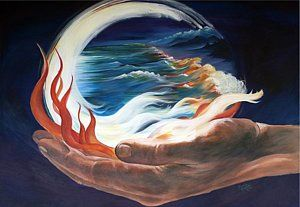 Prophetic Art Painting - Waves Of Grace by Ronelda Neufeld | Prophetic art, Art, Prophetic painting