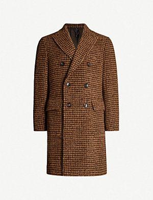 Herren Mantel Wool Mix Dogstooth find