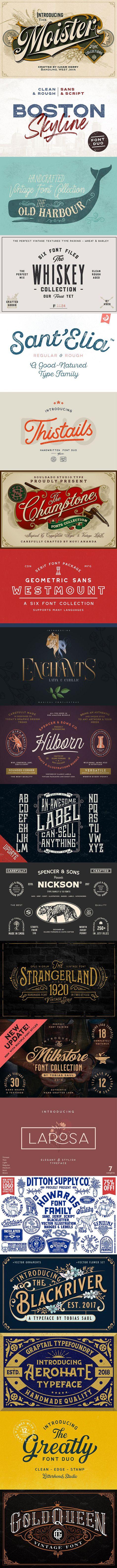 25 Wonderful Fonts For Label Design