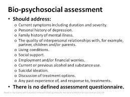 Biopsychosocial Model Of Assessment  Social Work Worksheets