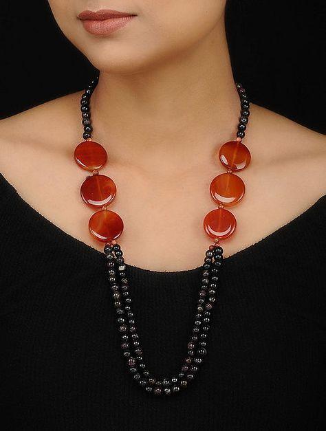 "20/"" Spanish Flamenco Graduated Beaded Necklace Red White Black Fancy Dress NEW"