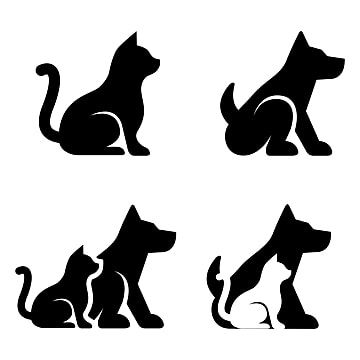 Dog And Cat Silhouette Icon Set Cat Clipart Animal Black Png And Vector With Transparent Background For Free Download Cat Clipart Cat Silhouette Animal Silhouette