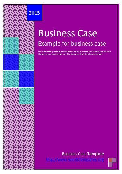 Business Case Template wordstemplates Pinterest Template - business case template word