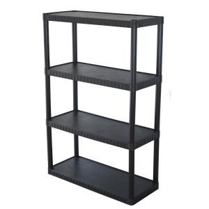 This 4 Tier Plastic Shelf Provides Attractive Storage Options For Small Spaces This Unit Features Solid Resin Shelves That Will Not Dent Or Rust And Is Easy To