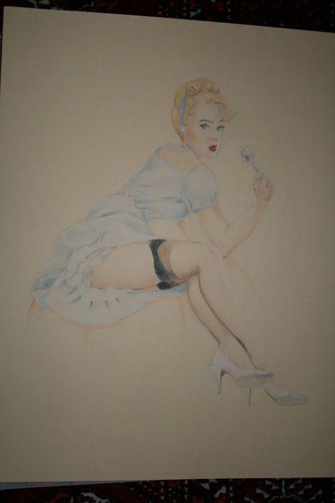 Disney Pinups - Cinderella by ~pixifly