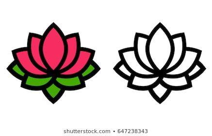 Cartoon Lotus Set สม ดระบายส งานศ ลปะ สม ดศ ลปะ