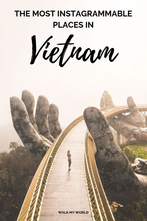 15 Instagram worthy places in Vietnam and how to get to them including Train Street, Golden Hand Bridge, Hoi An and our favourite secret spot on the Hai Van Pass. #Vietnam #Instagrammable #InstagramWorthy