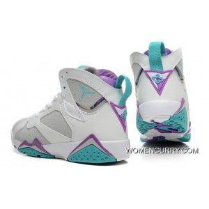 best sneakers 32bab b7b79 New Air Jordan 7 Retro White Gray Blue Best